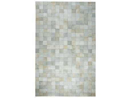 Dynamic Rugs Premium Leatherwork Rectangular Ivory Area Rug
