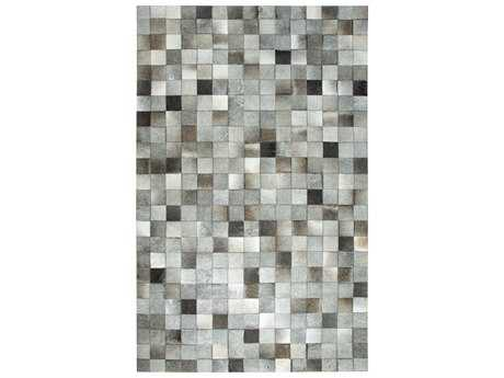 Dynamic Rugs Premium Leatherwork Rectangular Grey Area Rug