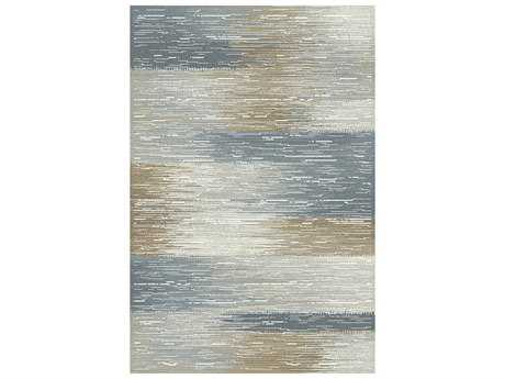 Dynamic Rugs Royal Treasure Rectangular Soft Blue & Mocha Area Rug