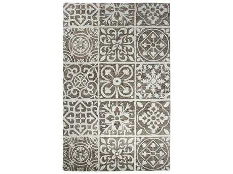Dynamic Rugs Casual Rectangular Silver & Charcoal Area Rug