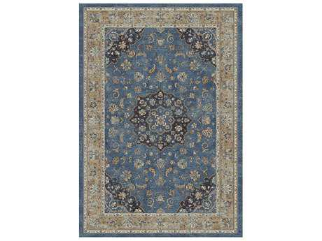 Dynamic Rug Farahan Blue & Rust Rectangular Area Rug