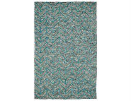 Dynamic Rugs Broadway Rectangular Aqua Area Rug