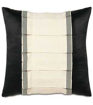 Eastern Accents Abernathy Folly Parchment Tuxedo Ruffle Pillow