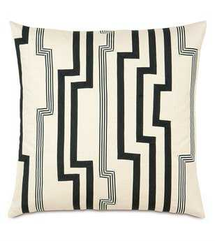 Eastern Accents Abernathy Folly Parchment With Graphic Trims Pillow