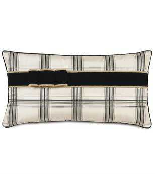 Eastern Accents Abernathy Beckett Ink With Ribbon Pillow