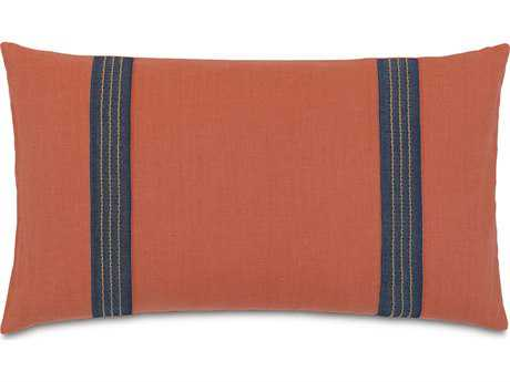 Eastern Accents Vita Breeze Tangerine with Border Accent Pillow