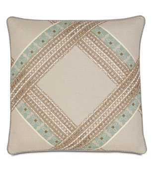 Eastern Accents Avila Vivo Bisque Diamond Pillow