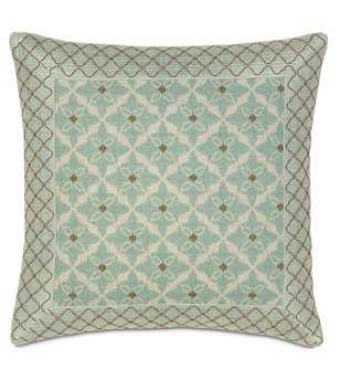 Eastern Accents Avila Arlo Ice With Mitered Border Pillow