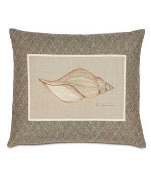 Eastern Accents Avila Hand-Painted Shell Pillow