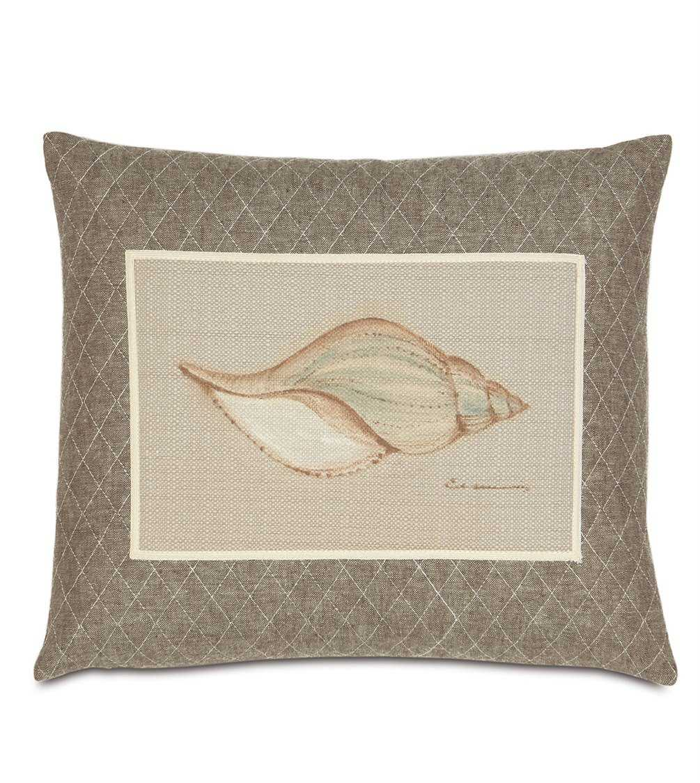 Eastern accents avila hand painted shell pillow eaavi11 for Hand painted pillows