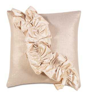 Eastern Accents Bardot Reflection Gold With Ruffle Pillow