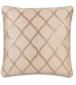 Eastern Accents Bardot Bisque With Cord Pillow