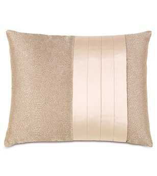 Eastern Accents Bardot Dunaway Fawn With Pleats Pillow
