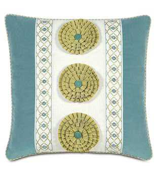 Eastern Accents Bradshaw Filly White Insert With Rosettes Pillow