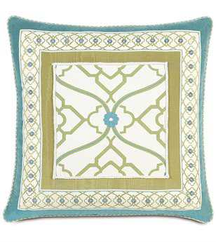 Eastern Accents Bradshaw Border Collage Pillow