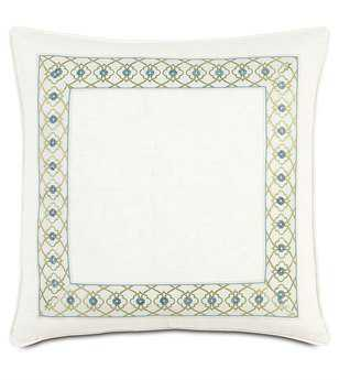 Eastern Accents Bradshaw Filly White With Mitered Border Pillow