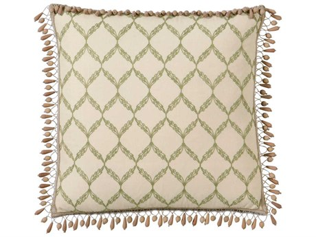 Eastern Accents Caicos Bartow Palm With Beaded Trim Pillow