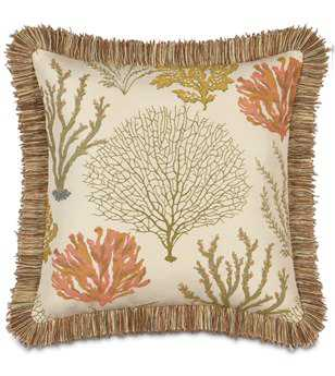 Eastern Accents Caicos With Brush Fringe Pillow