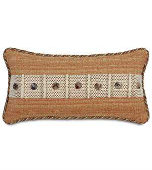 Eastern Accents Caicos Stark Sunset With Buttons Pillow