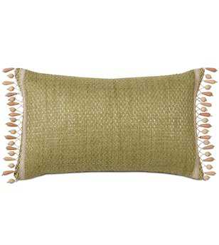 Eastern Accents Caicos Wades Green With Beaded Trim Pillow