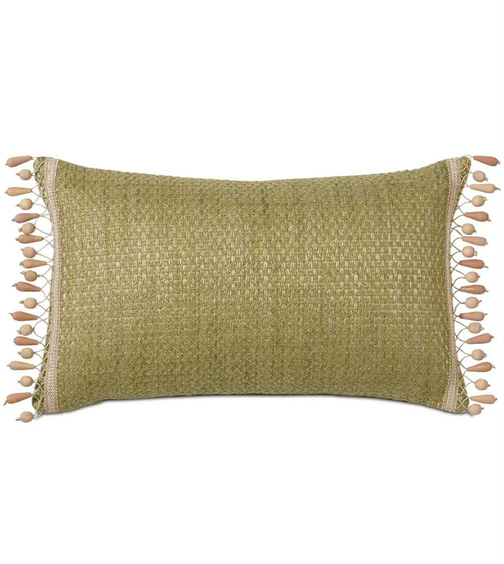 Decorative Pillow Trim : Eastern Accents Caicos Wades Green With Beaded Trim Pillow EACAC08