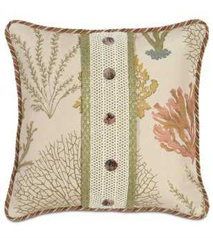 Eastern Accents Caicos With Buttons Pillow