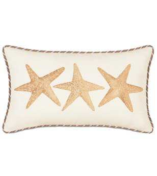 Eastern Accents Caicos Hand-Painted Starfish Pillow