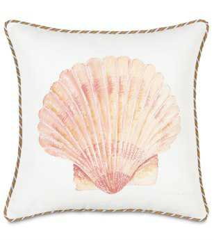 Eastern Accents Caicos Hand-Painted Scallop Shell Pillow
