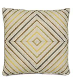 Eastern Accents Caldwell Austin Citron Squares Pillow