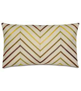 Eastern Accents Caldwell Austin Citron Diagonal Inserts Pillow