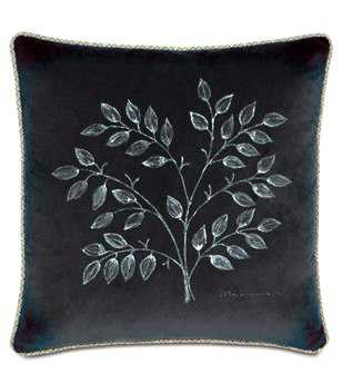 Eastern Accents Caldwell Jackson Charcoal Hand-Painted Pillow