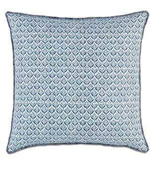 Eastern Accents Ceylon Kari Iris With Brush Fringe Sham