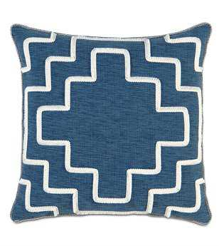 Eastern Accents Ceylon Garrison Storm With Brush Fringe Pillow
