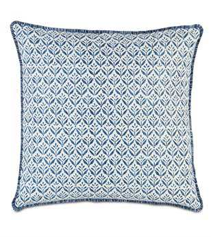 Eastern Accents Ceylon Kari Iris With Brush Fringe Pillow