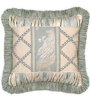 Eastern Accents Carlyle Collage With Brush Fringe Pillow