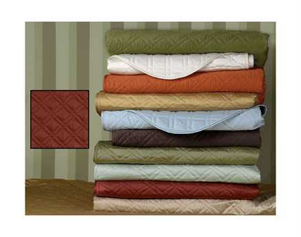 Eastern Accents Coperta Quilted Sateen Coperta Shiraz Coverlet