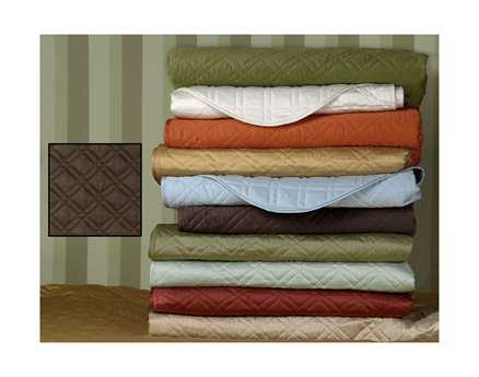 Eastern Accents Coperta Quilted Sateen Coperta Walnut Coverlet