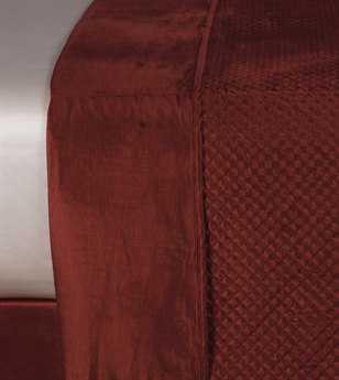 Eastern Accents Lucerne Solid Velvet Reuss Spice Coverlet