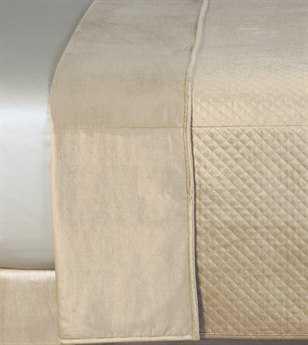 Eastern Accents Lucerne Solid Velvet Reuss Taupe Coverlet