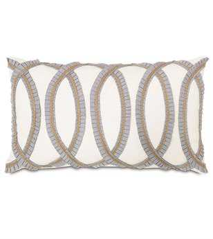 Eastern Accents Edith Baldwin White With Pleated Ribbon Pillow