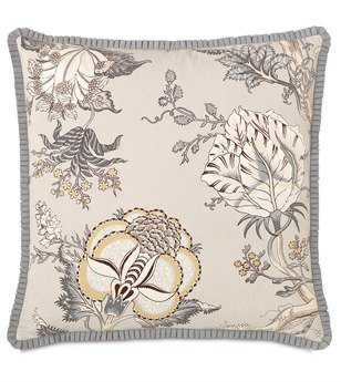 Eastern Accents Edith With Pleated Ribbon Pillow