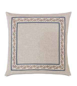Eastern Accents Edith Greer Linen With Mitered Border Pillow