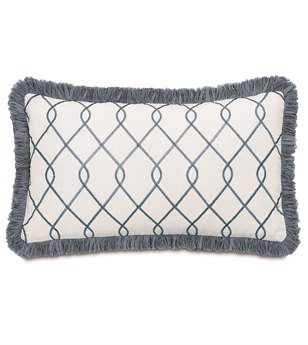 Eastern Accents Hampshire Terrace Grey With Brush Fringe Pillow