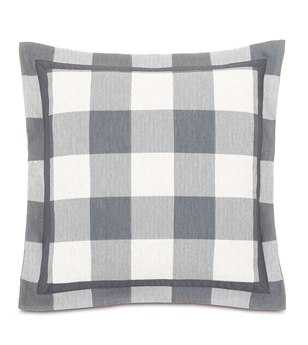 Eastern Accents Hampshire Phipps Slate With Flange Pillow