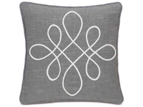 Eastern Accents Hampshire Duvall Slate With Scroll Pillow