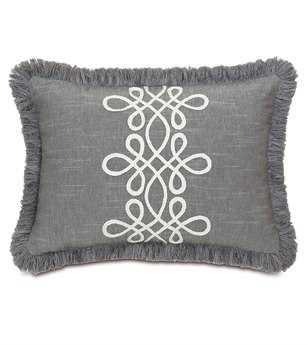 Eastern Accents Hampshire Duvall Slate With Brush Fringe Pillow