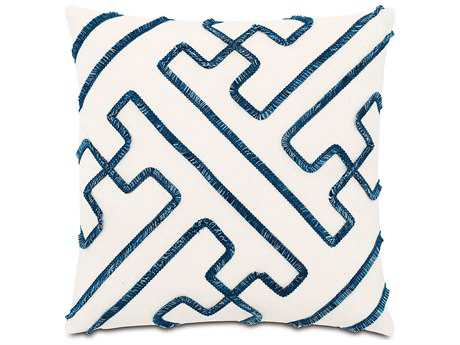 Eastern Accents Indira Dean Parchment with Mini Brush Fringe Accent Pillow