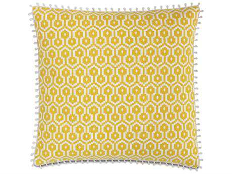 Eastern Accents Lanai Zuni Lemon with Loop Trim Accent Pillow
