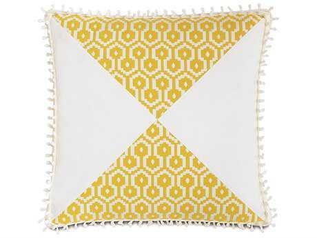 Eastern Accents Lanai Zuni Lemon/Baldwin White Mitered Accent Pillow