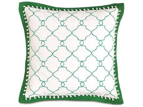 Eastern Accents Lanai Mila Moss with Mitered Flange Accent Pillow